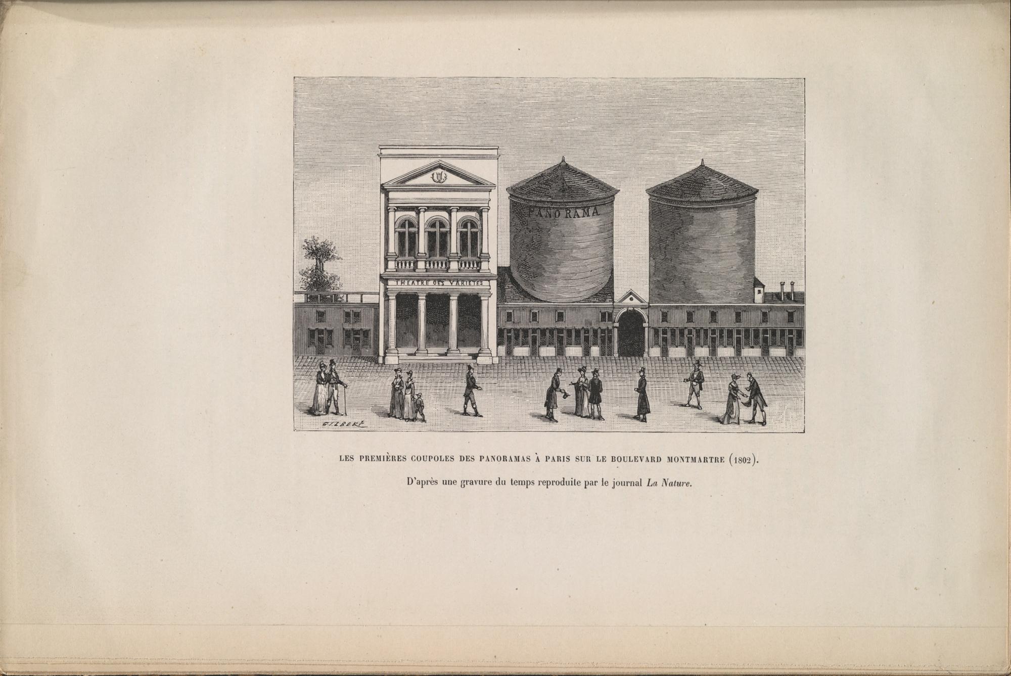 Scan d'une page d'une archive représentant deux Panoramas